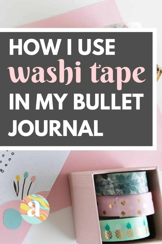 40 Creative Bullet Journal Washi Tape Ideas 16