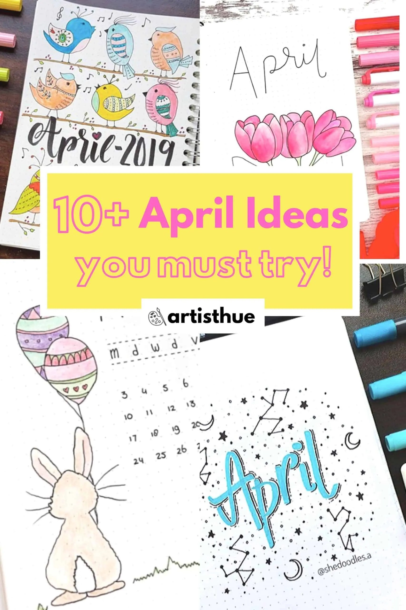 April Bullet Journal: 15 Layout Ideas 1