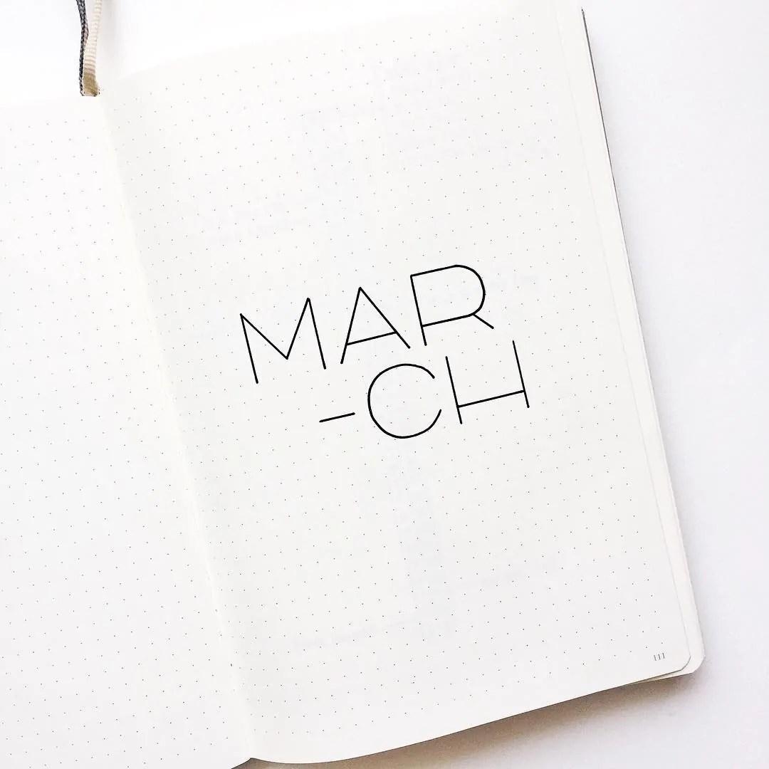 Bullet Journal march