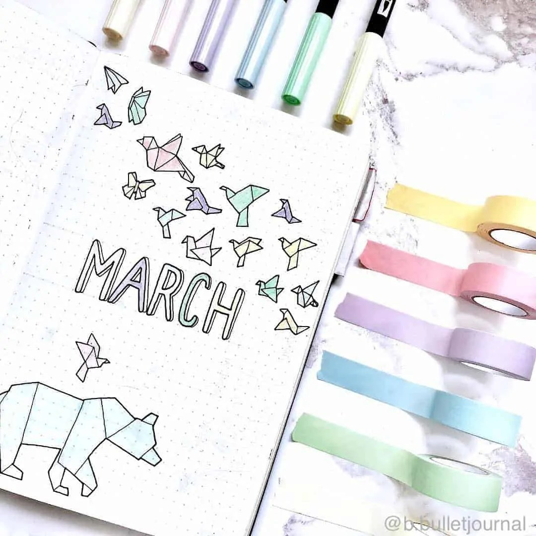 March Bullet Journal Monthly Ideas 5