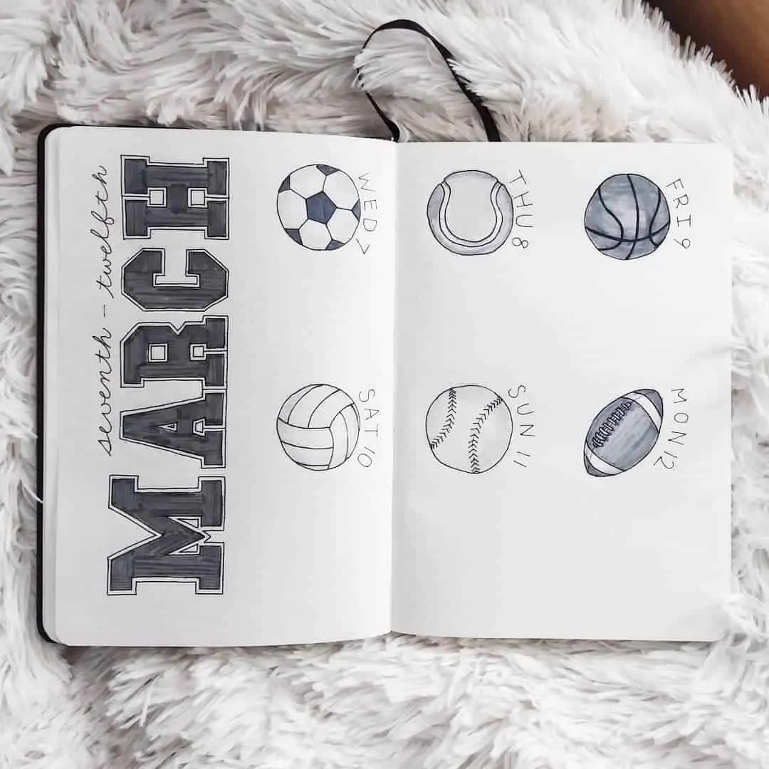 March Bullet Journal Monthly Ideas 7