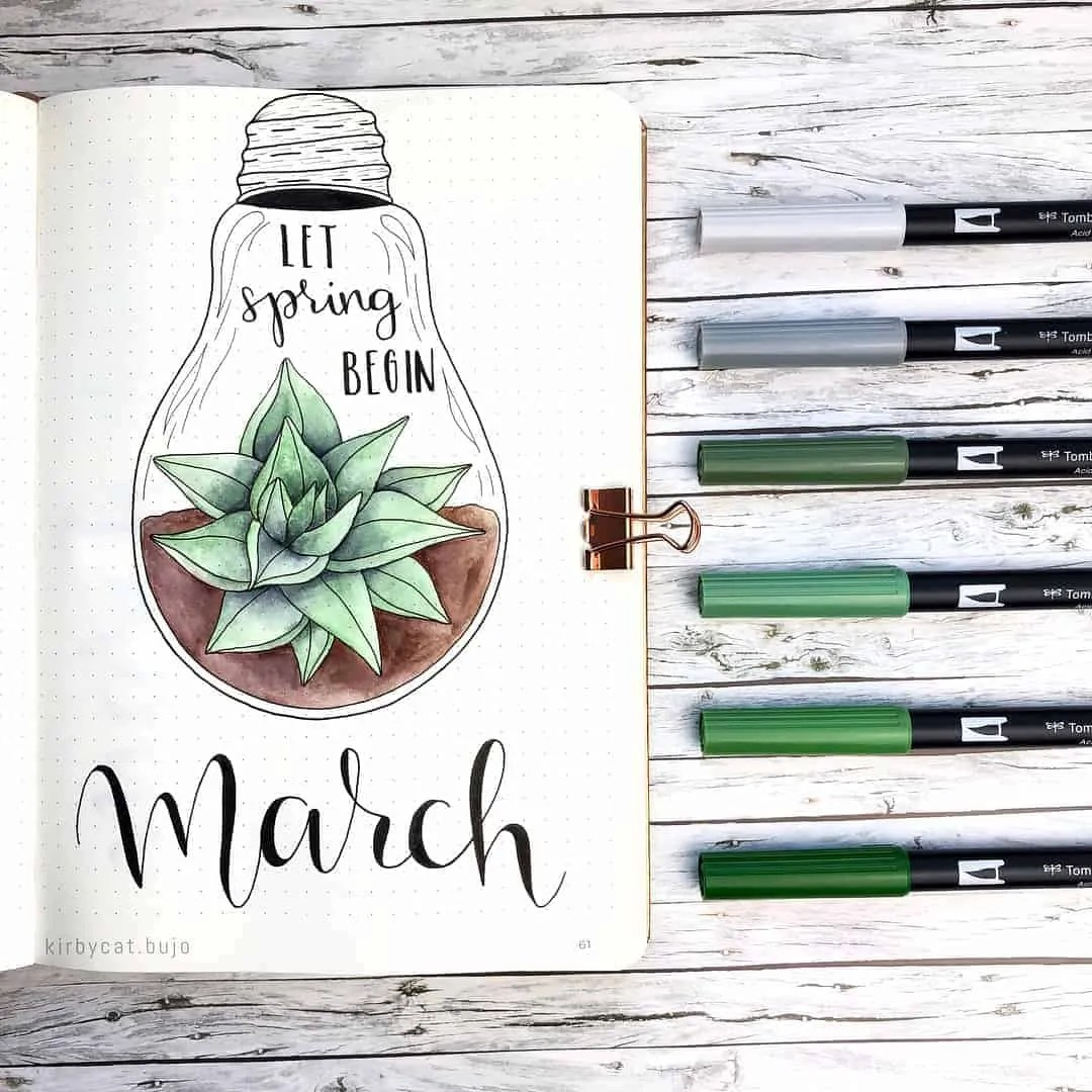 March Bullet Journal Monthly Ideas 23