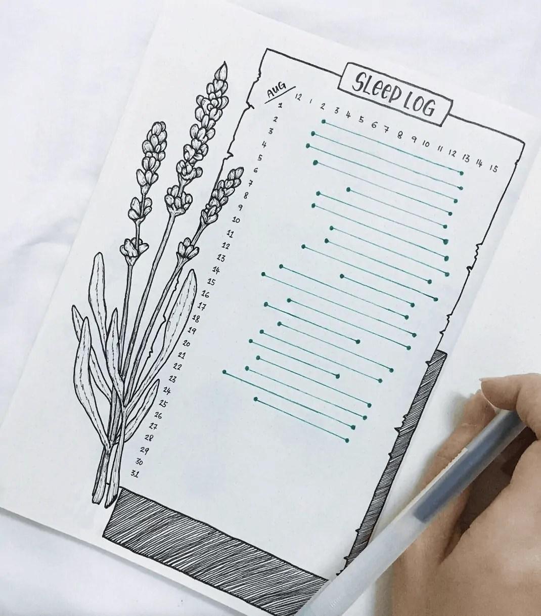 15 Bullet Journal Sleep Tracker Ideas 4