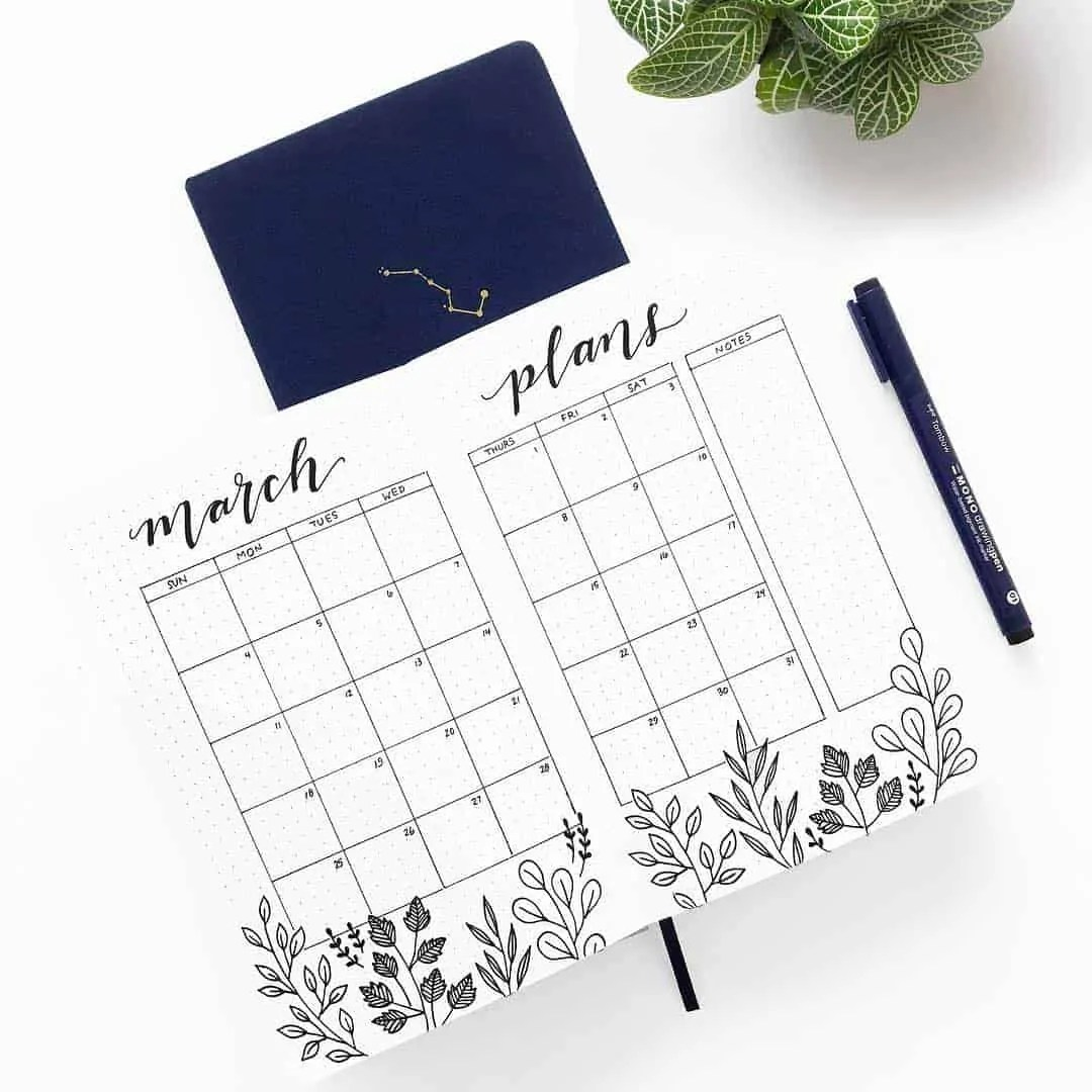 March Bullet Journal Monthly Ideas 33