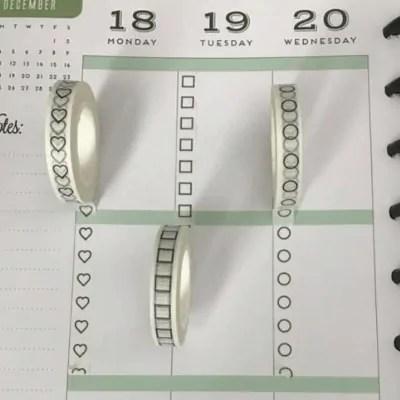 Bullet Journal Washi Tape Checklist