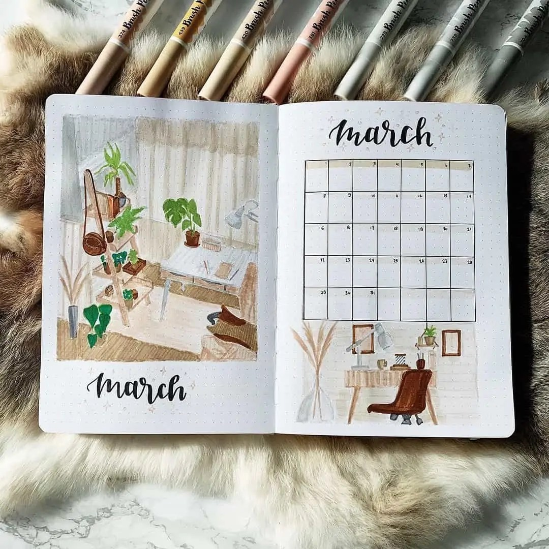 March Bullet Journal Monthly Ideas 51