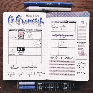 Bullet Journals Monthly Spread