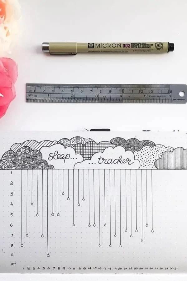 Sleep Log Bullet Journal Ideas