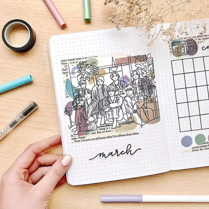 March Bullet Journal Monthly Ideas 56