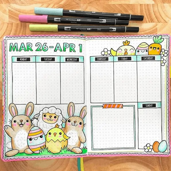Easter Bullet Journal