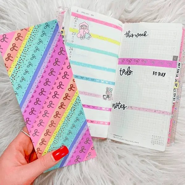 40 Creative Bullet Journal Washi Tape Ideas 28