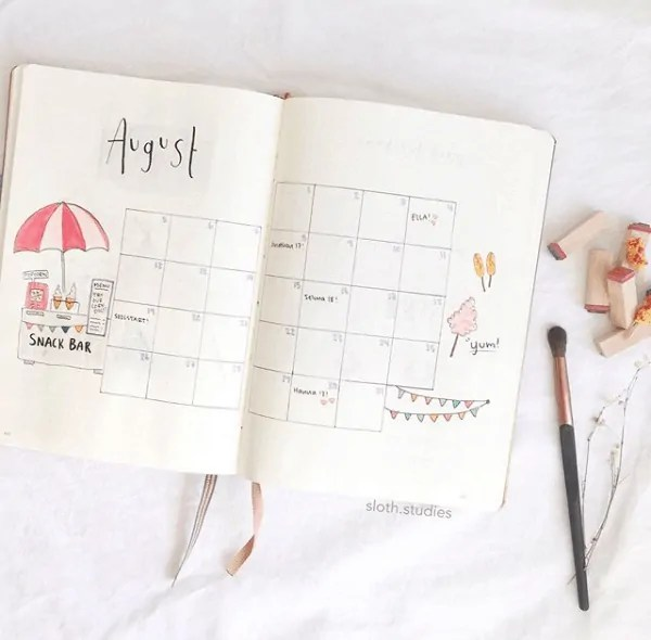 30 Creative Bullet Journal Monthly Spread Ideas 42