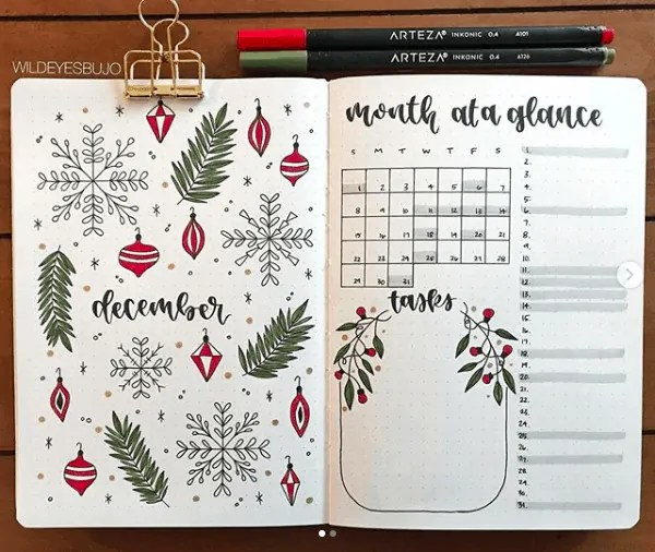 30 Creative Bullet Journal Monthly Spread Ideas 23