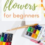 How to paint watercolor flowers 1