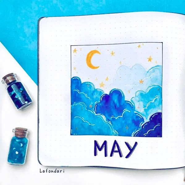 May Monthly Cover for Bullet Journal
