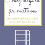 5 Ways to Fix Mistakes in Bullet Journal 13