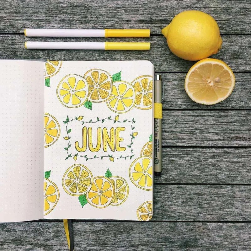 Bullet Journal June: Ideas and Inspiration 76