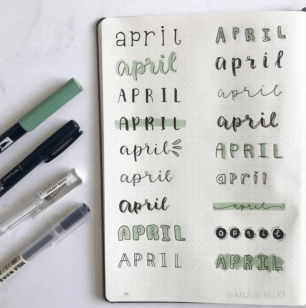 monthly header ideas