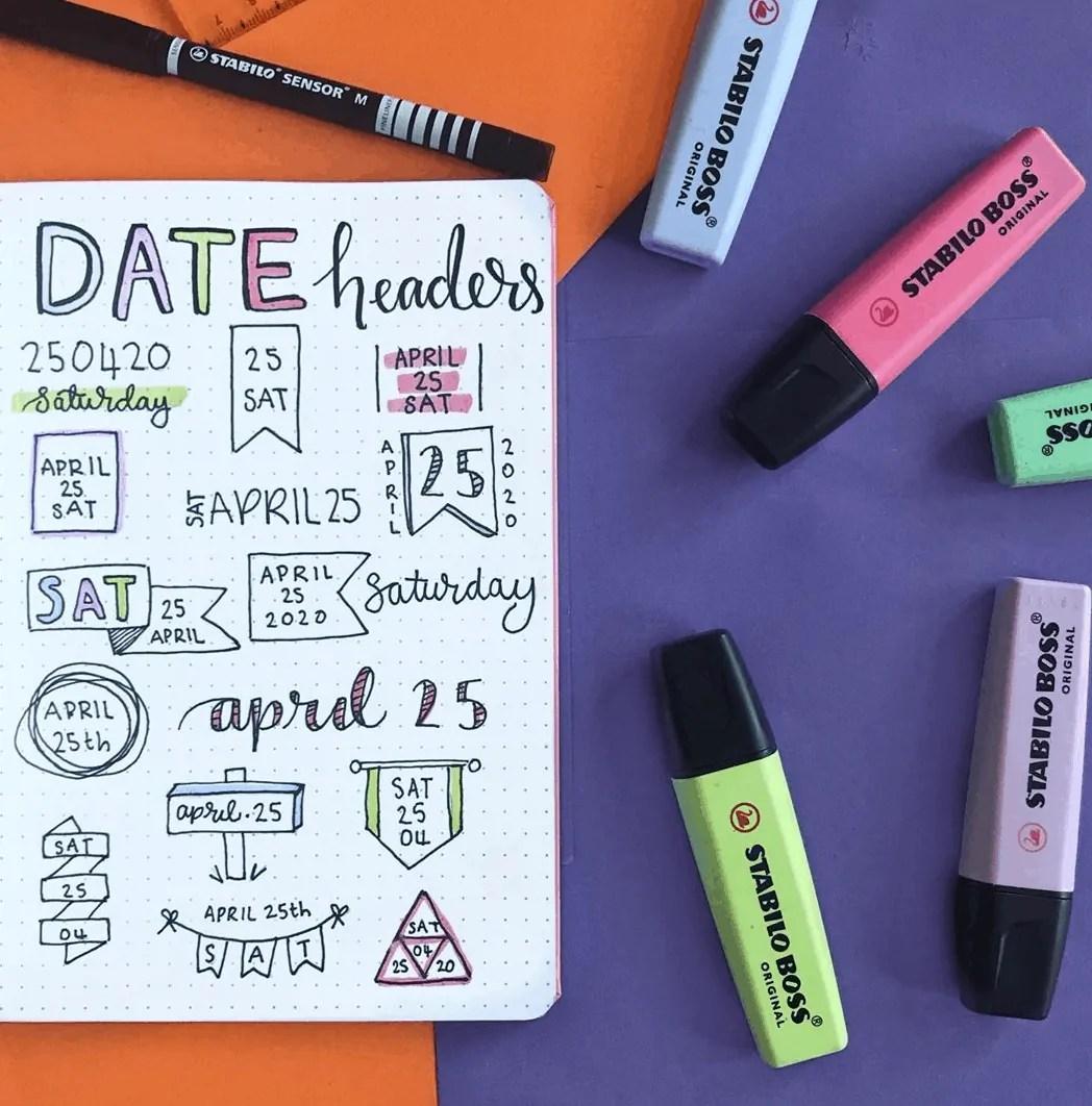 date headers