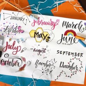 monthly header ideas