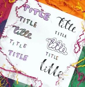 title ideas bujo