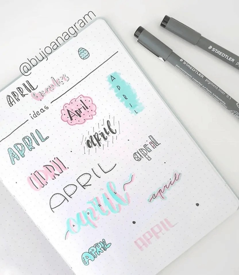 April header ideas