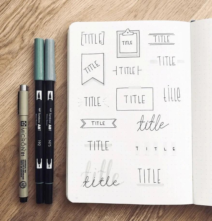 minimalistic header ideas