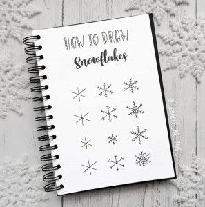 how to draw snowflake