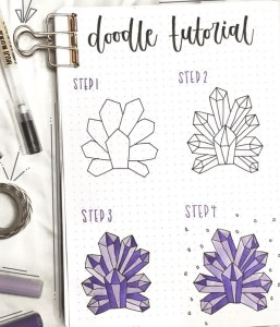 how to doodle crystals