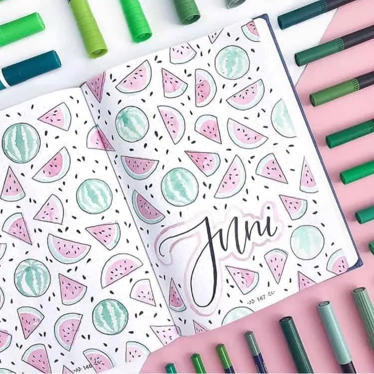 Bullet Journal June: Ideas and Inspiration 12