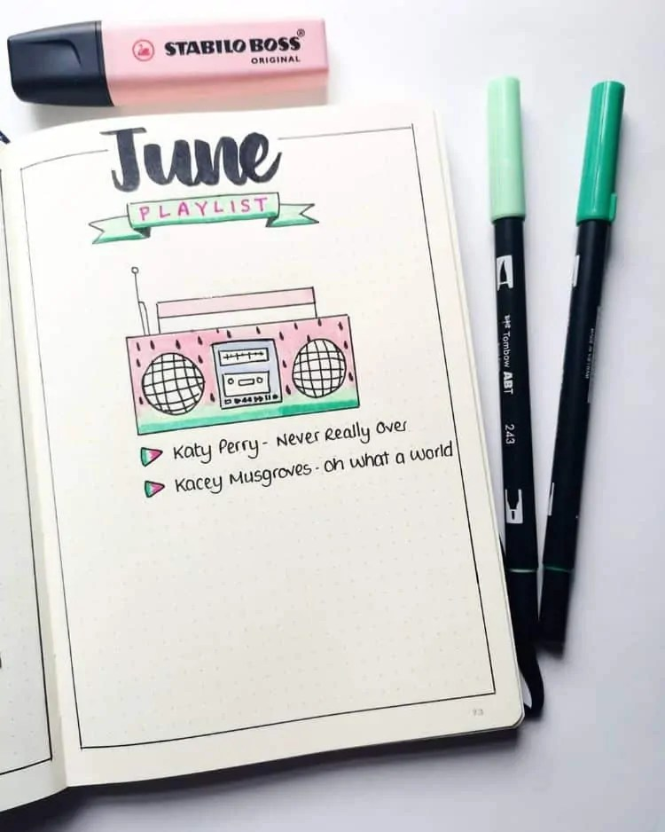 Bullet Journal June: Ideas and Inspiration 34