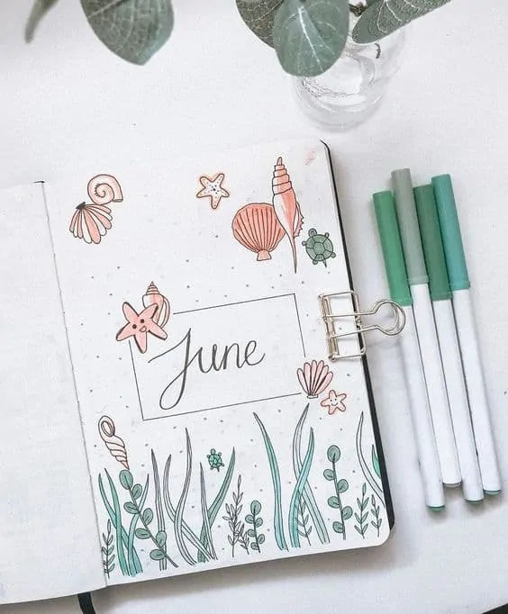 Bullet Journal June: Ideas and Inspiration 44