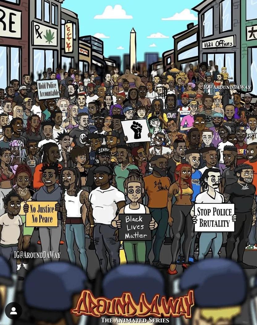 black art protests