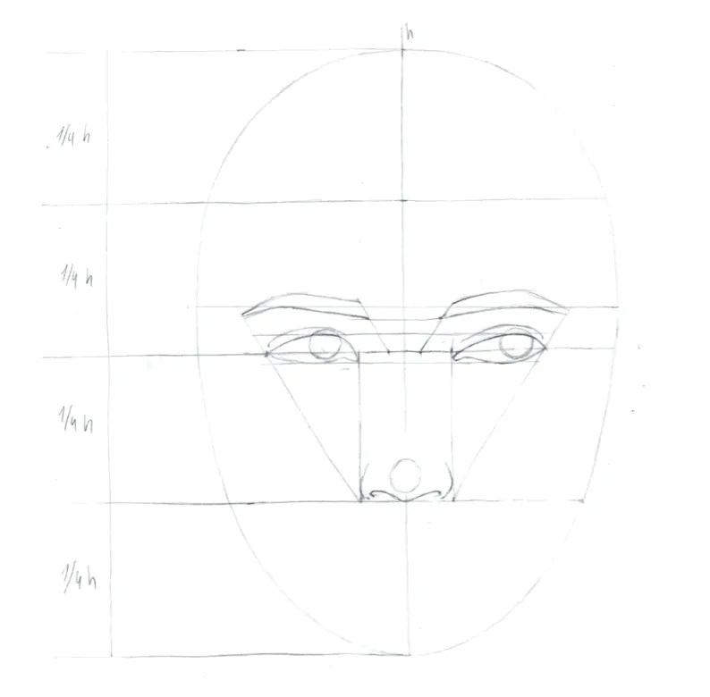 How to draw female face in 8 steps 6