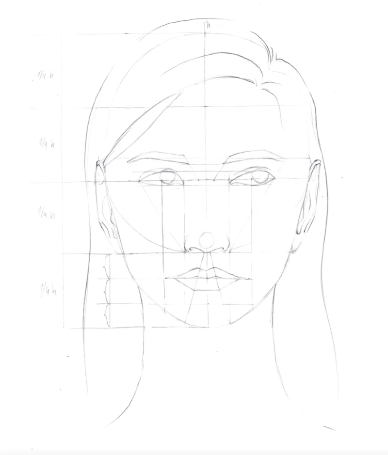 How to draw female face in 8 steps 12