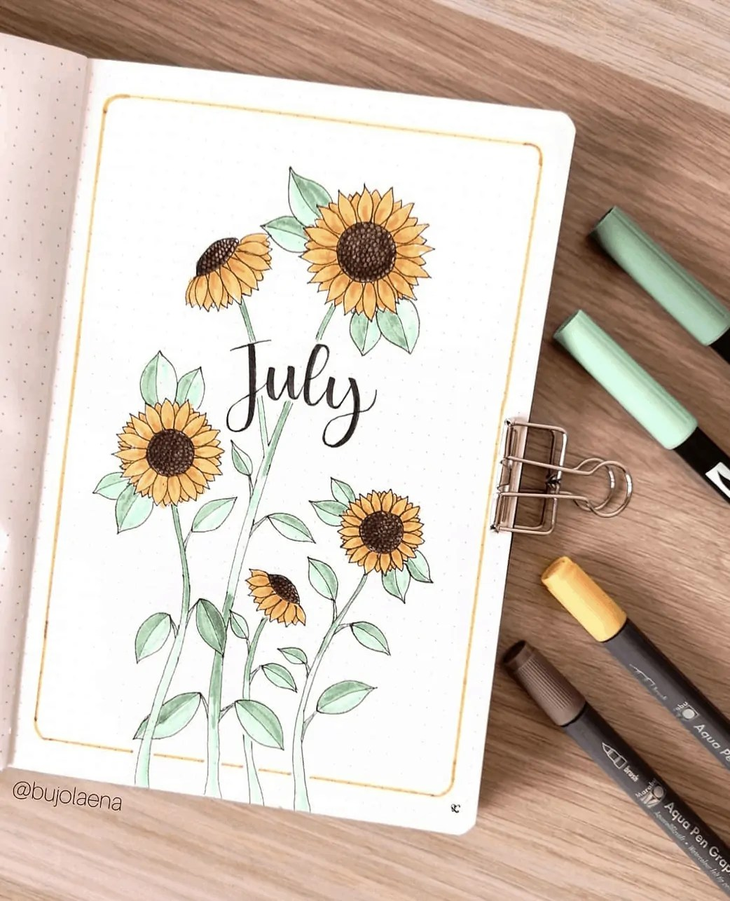 July bullet journal