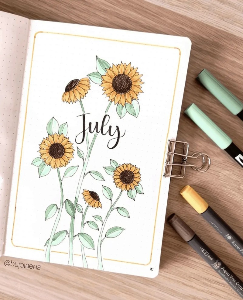 July bullet journal
