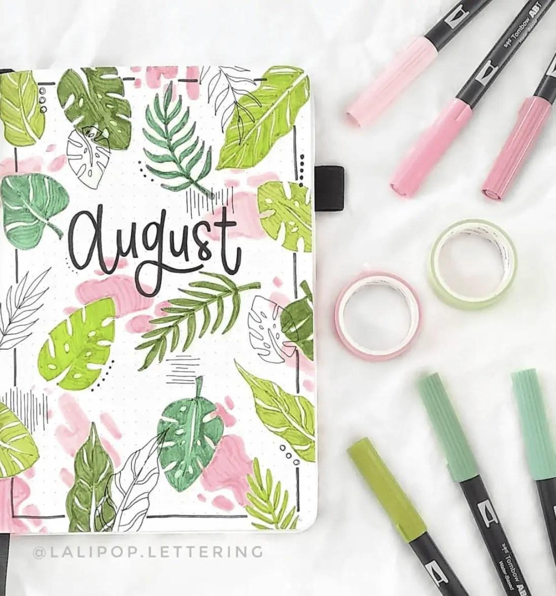 Bullet Journal August