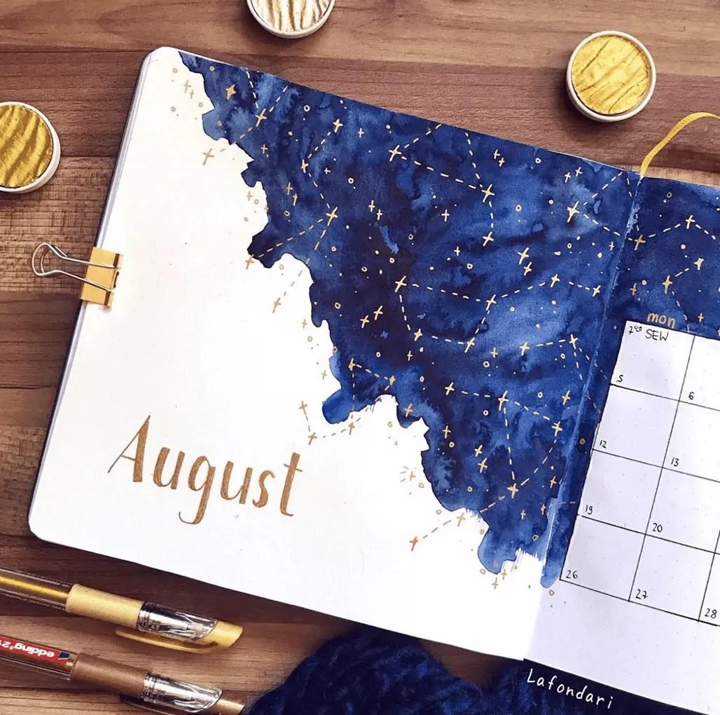 August Bullet Journal Spread Ideas 25