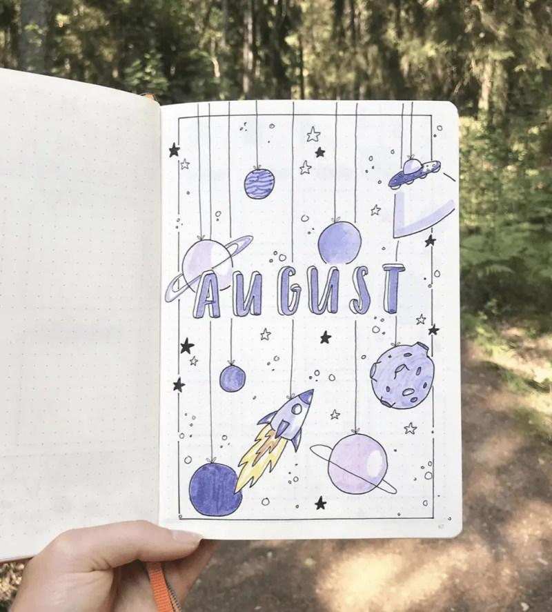 August Bullet Journal Spread Ideas 27