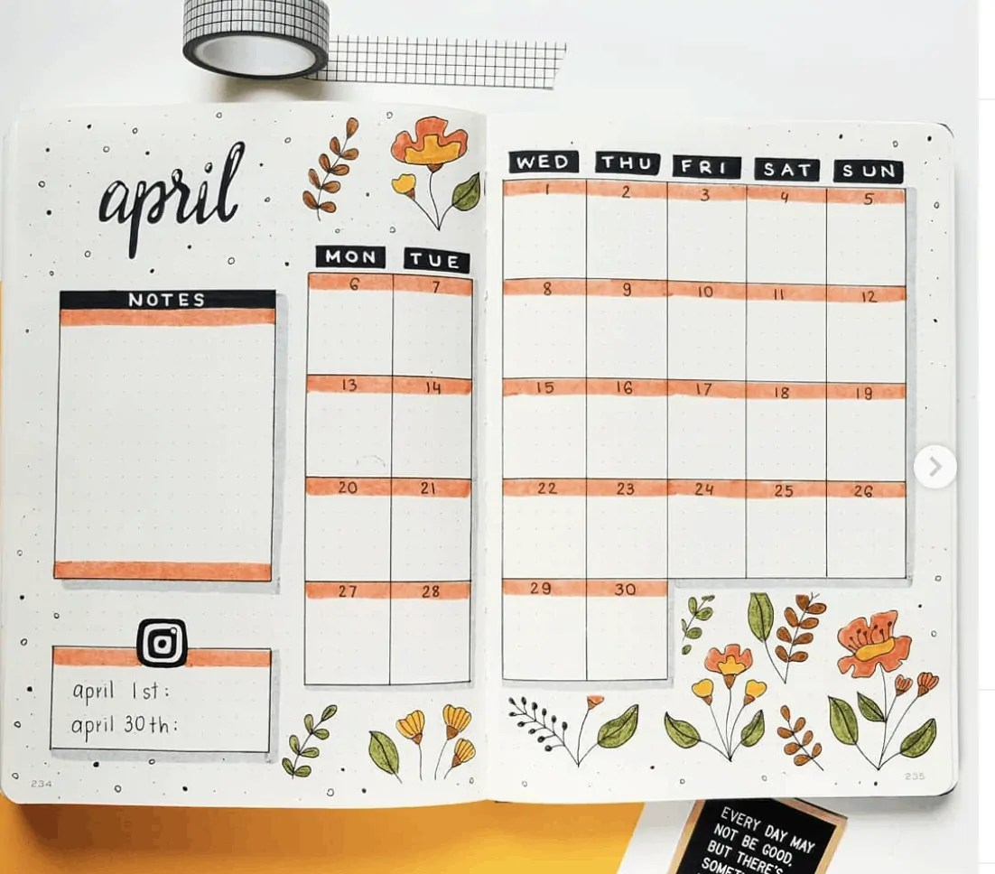 Bullet Journal Spread Ideas for Every Month of the Year 37