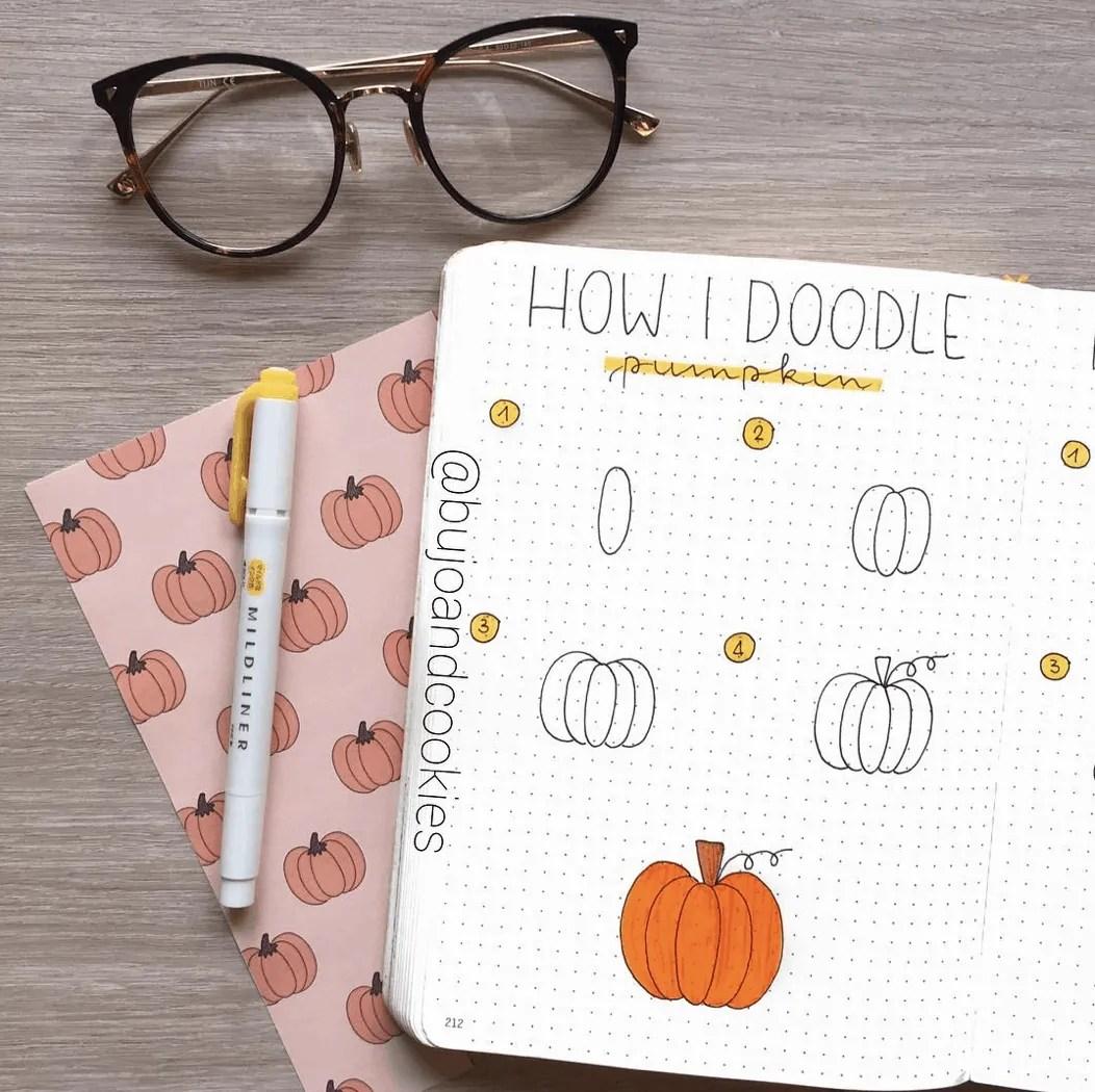 100 Bullet Journal Fall Doodles Halloween Ideas 5