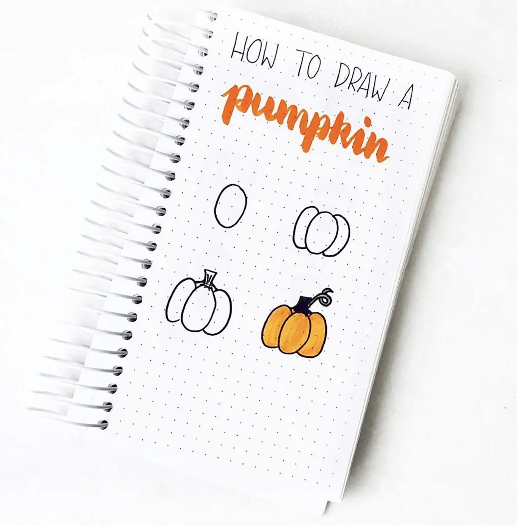 100 Bullet Journal Fall Doodles Halloween Ideas 7