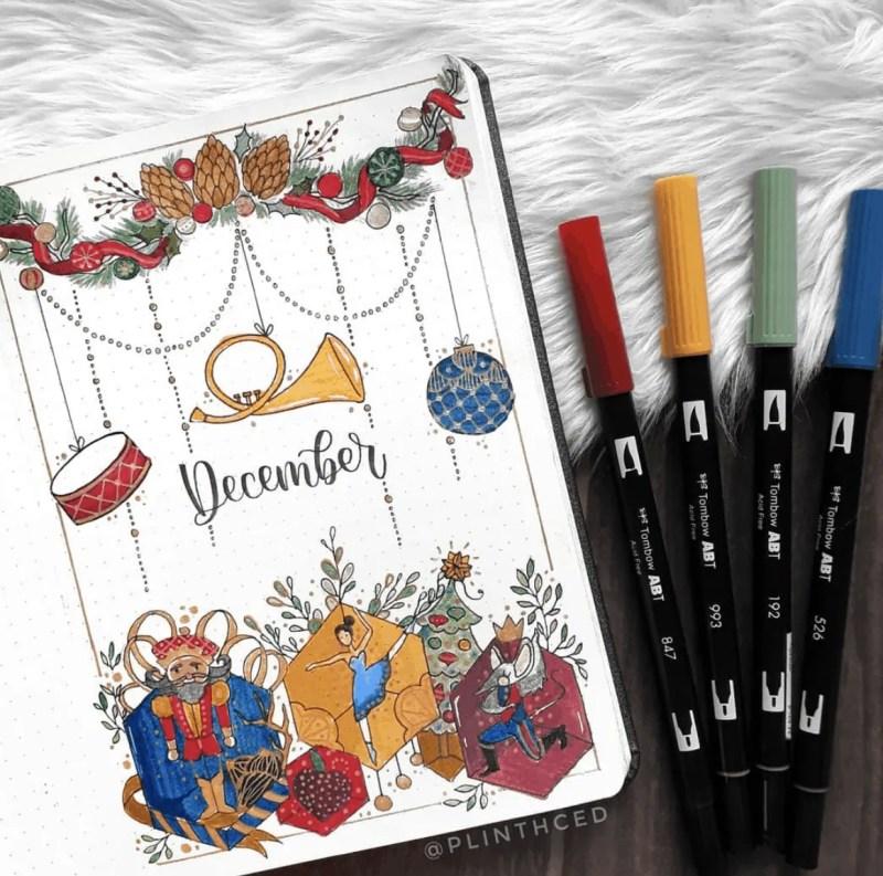 December Bullet Journal Cover Ideas