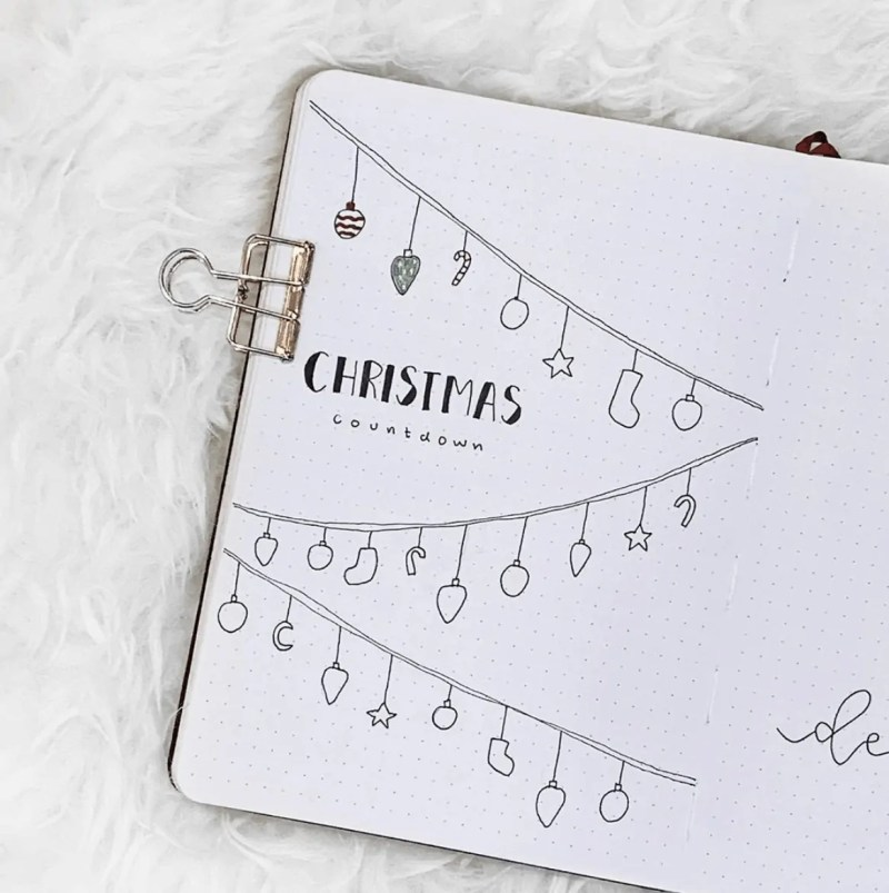 December Bullet Journal Page Ideas: