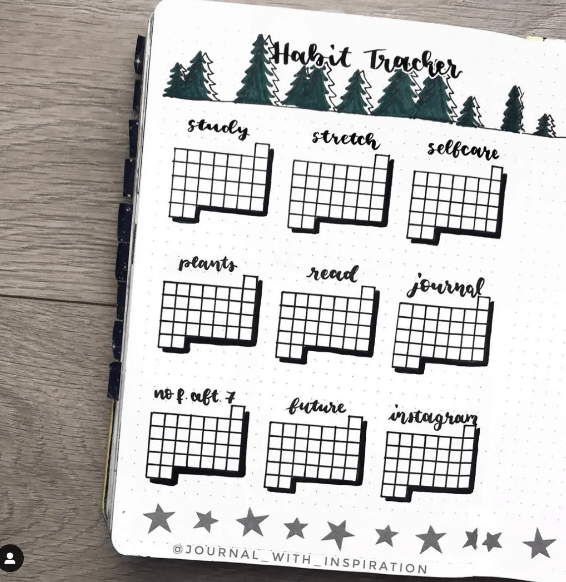 December Bullet Journal Trackers: