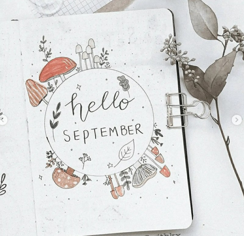 50+ Stunning September Bullet Journal Ideas you must see! 29