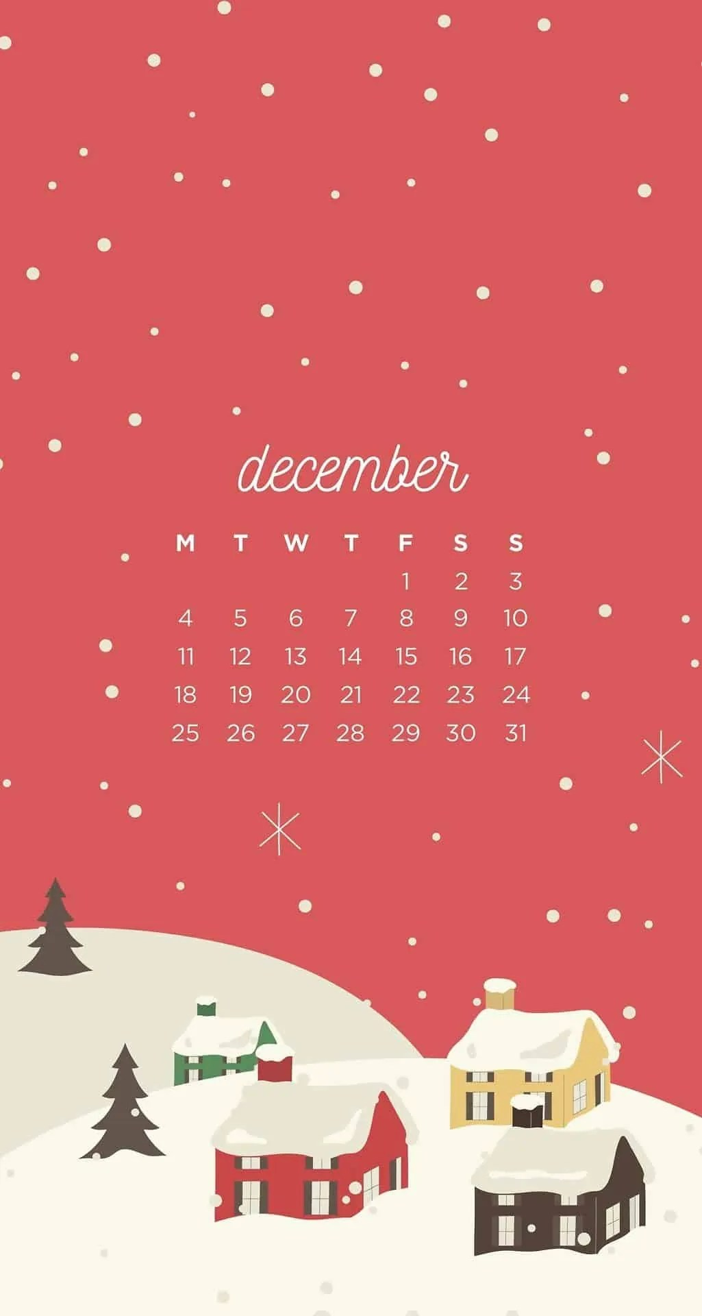 December-Christmas-Town-Phone-Wallpapers 5
