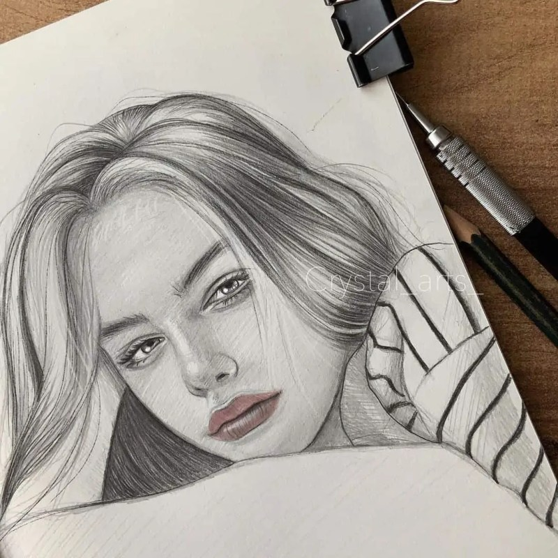 100+ Stunning Realistic Portrait Drawings 9