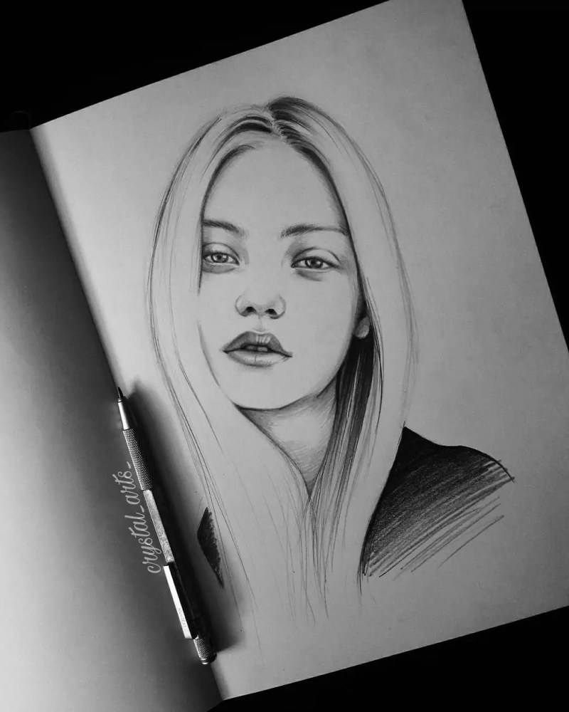 100+ Stunning Realistic Portrait Drawings 173